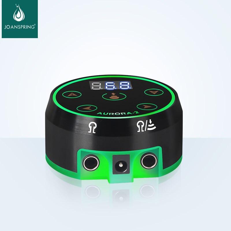 Блок питания Aurora 2 для татуировок, Модернизированный цифровой блок питания с ЖК-дисплеем и блоком питания, миниатюрная светодиодная сенсорн...