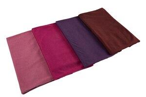 Image 5 - Nuovo hijab Musulmano donne islamiche hijab Musulmano Della Sciarpa Elastica sciarpa in jersey di cotone morbido scialli sciarpe pianura