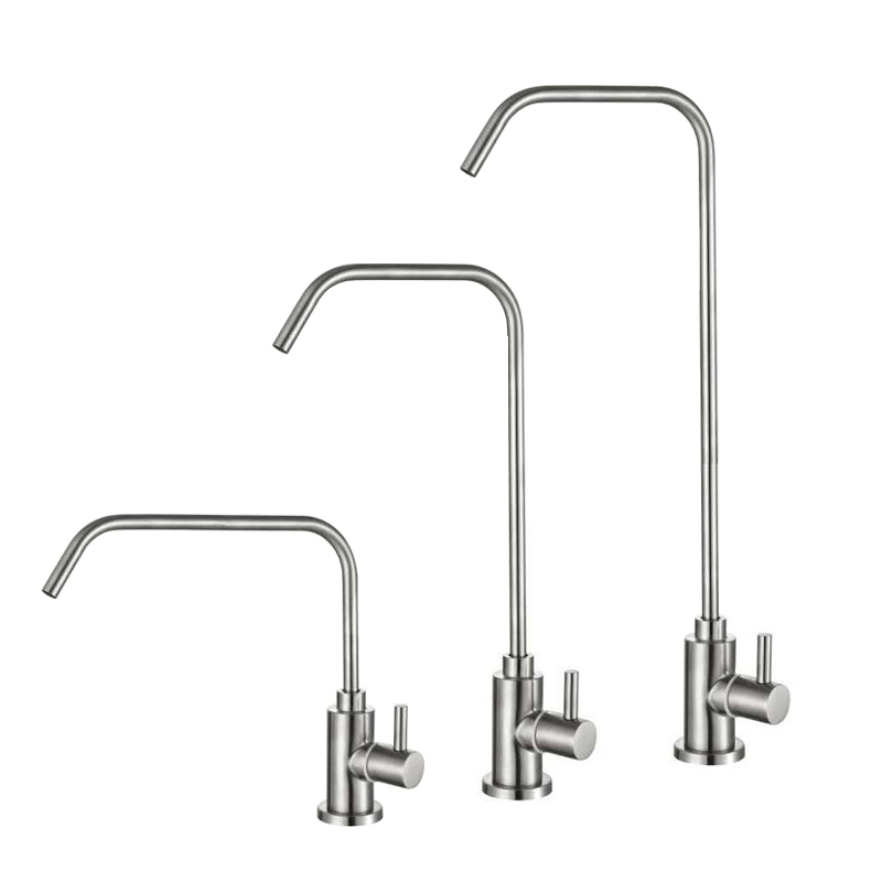 Kitchen Drinking Water Faucet Filter Tap Stainless Steel Brushed Single Lever Cold Water Tap Water Purifier Reverse Osmosis Tap