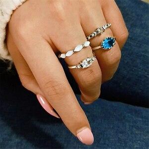 4 шт./компл. 2020 модный простой дизайн винтажные красочные кольца наборы для женщин ювелирные изделия