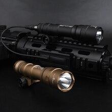 エアガンsurefir M600 M600DFデュアル燃料scoutlight 1300ルーメンled戦術的な狩猟ライフル武器懐中電灯フィット20ミリメートルピカティニーレール