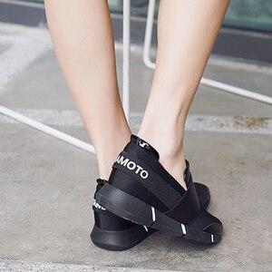 Image 3 - BANGJIAO kadınlar günlük mokasen ayakkabı nefes yaz düz ayakkabı kadın üzerinde kayma rahat ayakkabılar yeni Zapatillas Flats ayakkabı boyutu 35 40