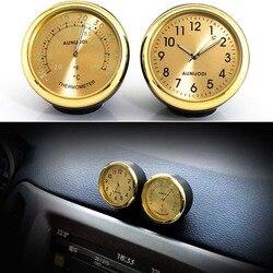 Zegar samochodowy termometr higrometr akcesoria do dekoracji samochodów wnętrze auta Ornament w Ozdoby od Samochody i motocykle na