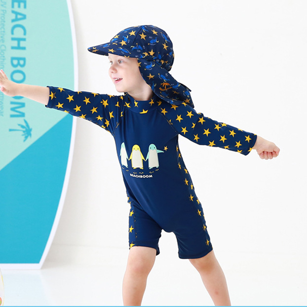 Children Star Penguin One-piece Swimming Suit BOY'S Hot Springs AussieBum Baby Infant Swimming Trunks 6310