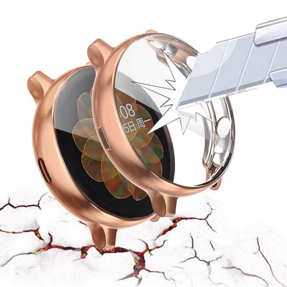 شاشة واقية الحال بالنسبة لسامسونج غالاكسي ساعة النشطة 2 40 مللي متر 44 مللي متر غطاء كامل الوفير حامي لينة بولي TPU شل ل غالاكسي active2