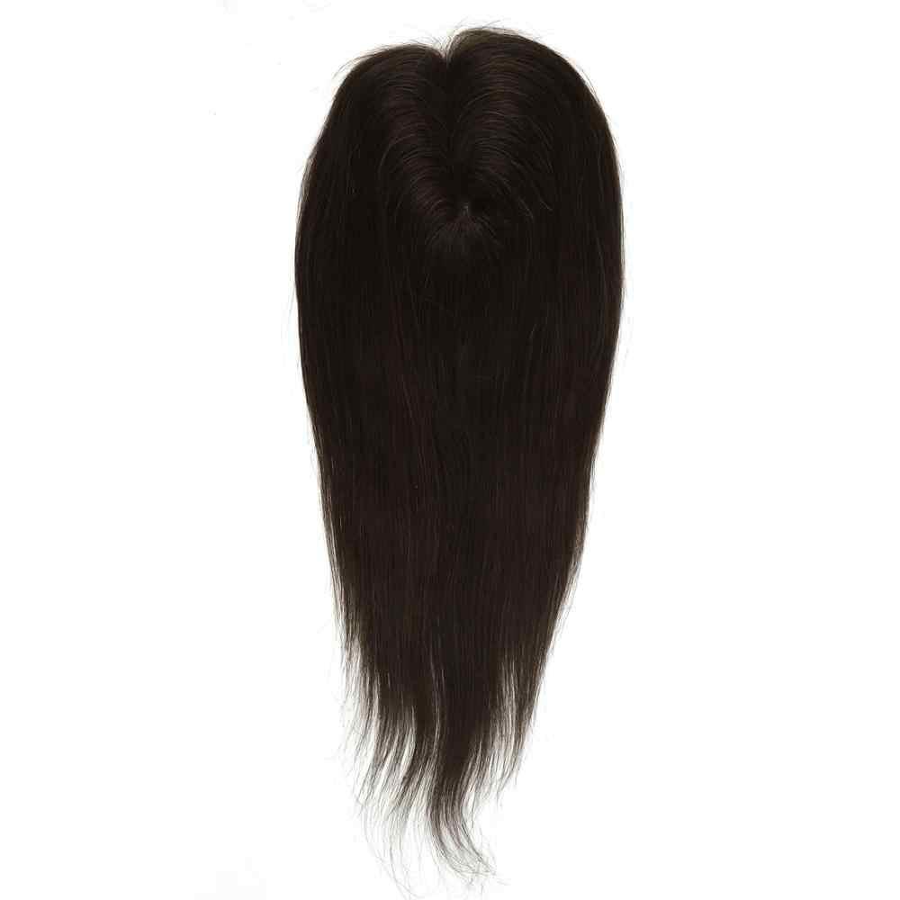 Vlasy 180% gęstość Remy ludzki włos nakładka do włosów peruki 10*13cm włosy Clip In peruka włosy dla kobiet 14 cal 60g
