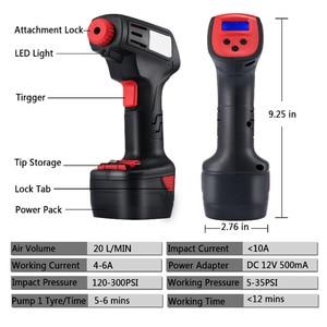Image 4 - Pro Air Compressor Draadloze Draagbare Compressor Elektrische Inflator Portable Hand Held Pomp met Digitale LCD Auto Styling