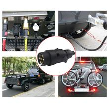Durable 12V 7 Way Round Standard European Car Plug Connector Plastic 7 Pin Socket Plugs For RVs Trailer Couplings & Accessories durable 7 pin aluminium alloy plug trailer truck towing electrics 12v connector eu plug trailer couplings