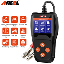 Ancel BA201 Battery Tester 12V Analyzer 100 to 2000CCA  Car Battery Tester Car Quick Cranking Charging Circut Tester PK KW600