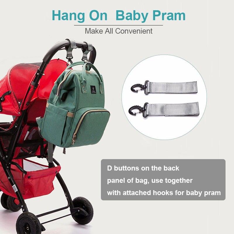 Haae9c03ef50f4ea5bdc6457851a237c0o Diaper Bag With USB Interface Large Capacity Travel Backpack Nursing Handbag Waterproof Nappy Bag Kits Mummy Maternity Baby Bag