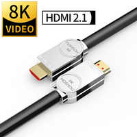 MOSHOU Real HDMI 2,1 Cable Ultra-HD (UHD) 8K HDMI 2,1 Cable 48Gbs con Audio y Ethernet Cable HDMI 1M 2M 5M 10M 15M 20M HDR 4:4:4