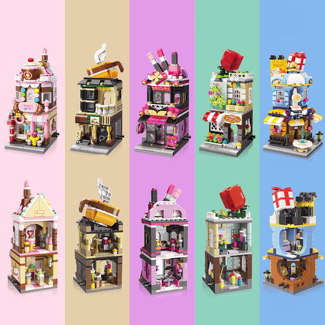 City Friends Stores Blocks Toys Street Shops Locking Building Bricks 6