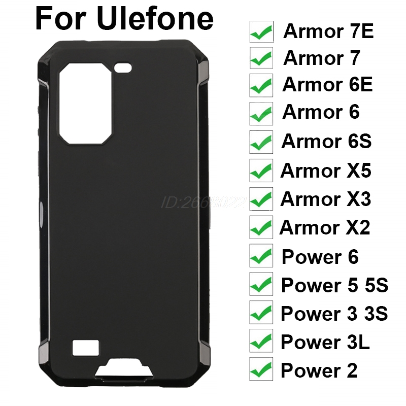 For Ulefone Armor 7E 7 6E 6 6S X5 X3 X2 Gel Pudding Silicon Case Protective Back Cover Power 6 5 5S 3L 3 3S Note 9P Phone Case(China)
