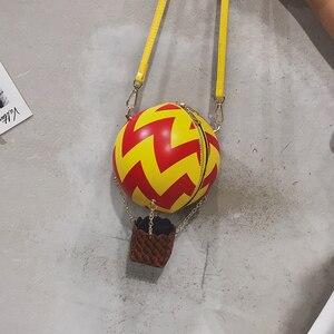 Image 3 - Leuke Luchtballon Ontwerp Kleur Gestreepte Mode Vrouwen Schoudertas Tote Crossbody Bag Dames Portemonnees En Handtassen Tote Bag