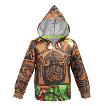 Maui Hoodies for Boys Cosplay Cartoon Kids Long Sleeve Casual Clothing Children Zip Hooded Coat Roll Play Mythical Hero