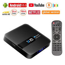Android 10 TV BOX 4K Media Player 3D Video Youtube Netflix 2GB 16GB Smart 2.4G WIFI Media Player TV Receiver Set Top Box 2019 best stable media player smart tv box netflix youtube h96max max rk3318 android tv box 2 4 5 0g wifi h 265 tv set top box