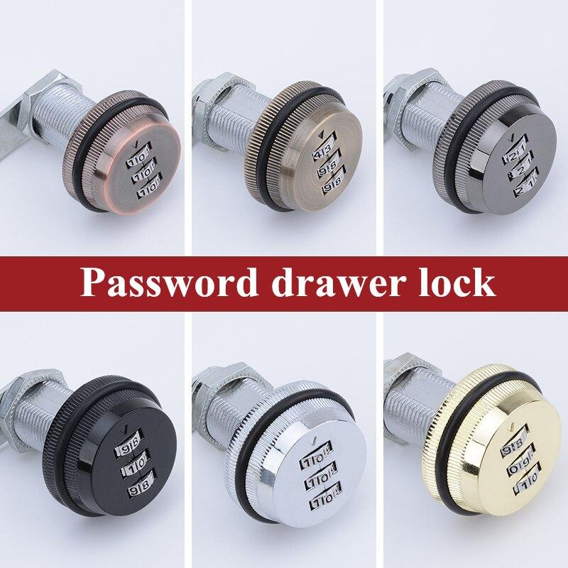 3 Digit Moderne Kombination Schublade Schloss 20mm 30mm Zink-legierung keyless cam lock Für Mailbox locker Schrank Tür sicherheit Hardware
