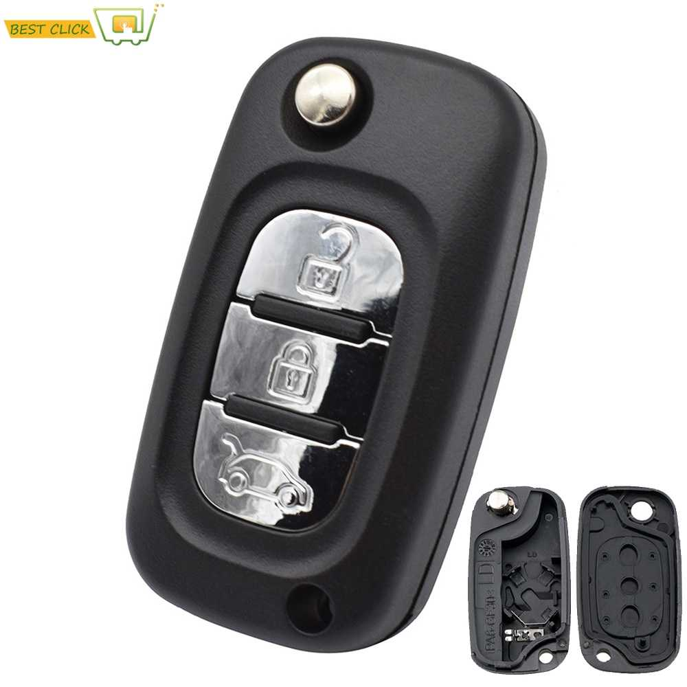 3 Button Car Remote Fob Key Shell Case For LADA Priora Kalina Granta Vesta Xray X-Ray 2014 2015-2019 Key Replacement Repair Kit