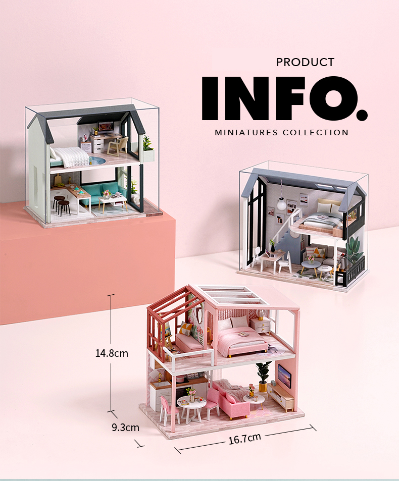 Meet Happiness DIY 3D Miniature Apartment