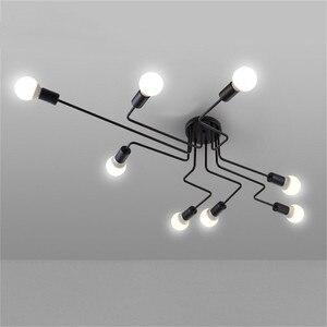 Image 4 - Потолочная люстра, светодиодный светильник, E27