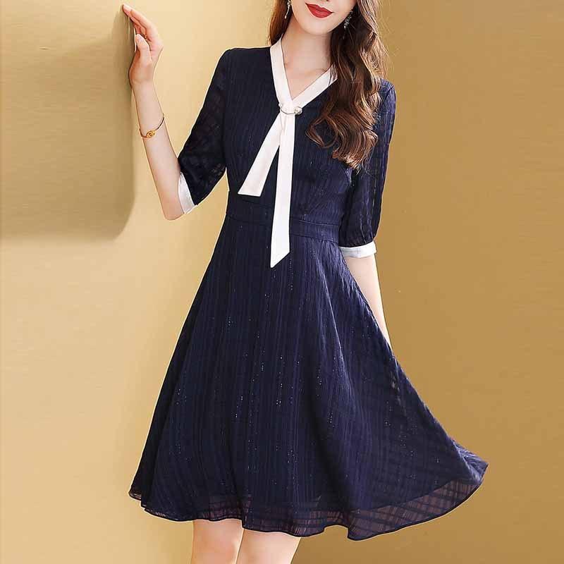 Lady Dress Women's 2019 Summer Wear New Style High-End Kuotaitai Slimming Elegant Popular Skirt-