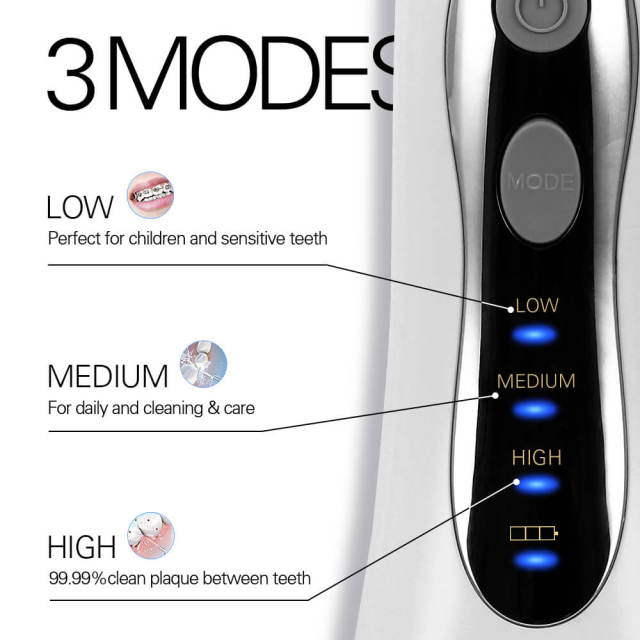 New 3 Modes Cordless Oral Irrigator Portable Water Dental Flosser USB Rechargeable Water Jet Floss Tooth Pick 5 Jet Tips 300ml 5