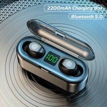 TWS Bluetooth Earphones 2000mAh Charging Box Wireless Headphone 9D Stereo Sports Waterproof Earbuds headphones with microphone