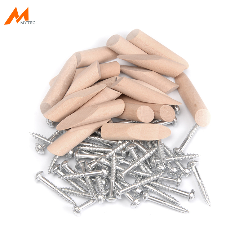 200pcs Pocket Hole Screws And Plugs For 9.5MM Drill Bits Woodworking Pocket Hole Jig Furniture Joining Accessories Hardwood Plug