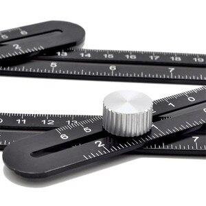 Image 4 - Sześciostronne narzędzie pomiarowe ze stopu aluminium szablon kątowy mechanizm narzędziowy slajdy z lokalizatorem otworów