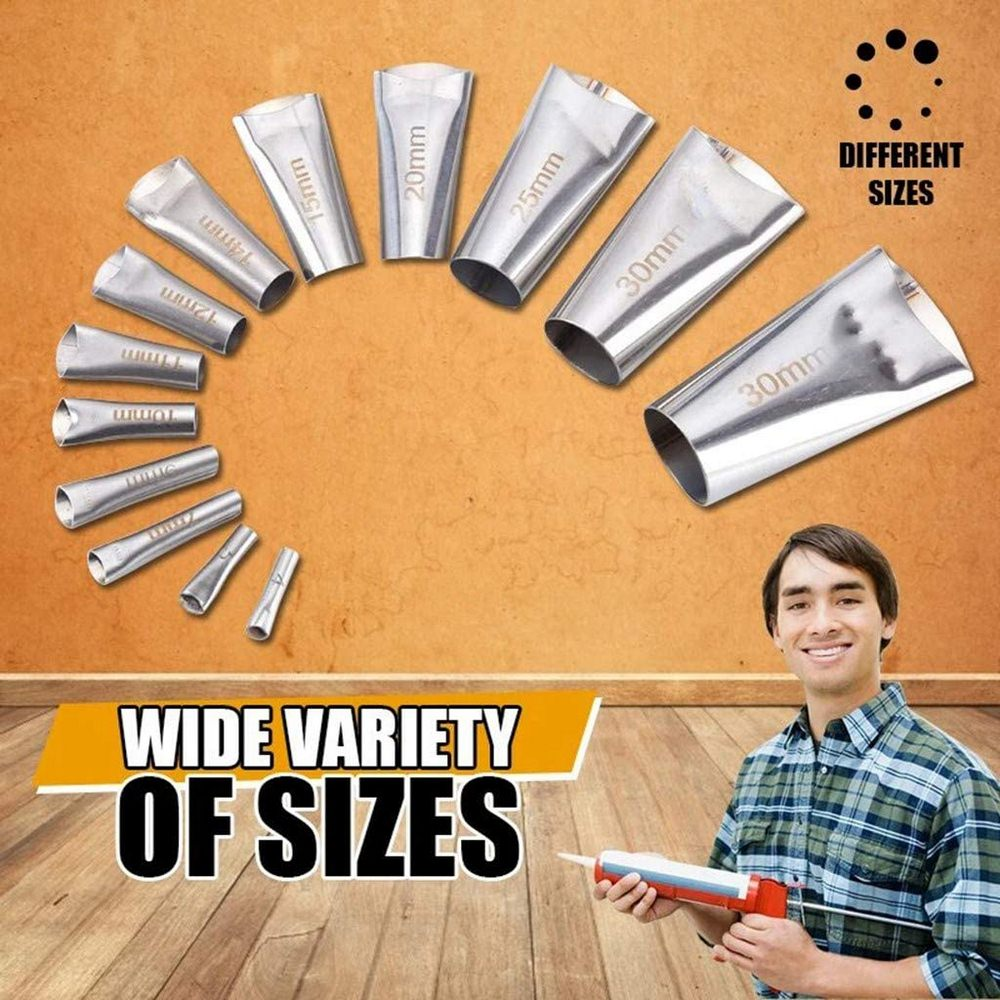 14 Pcs Caulking Nozzle Applicator Finishing Tool Caulking Finisher Glue Tools Kit Silicone Sealant Glue Remover Wall Repair Set