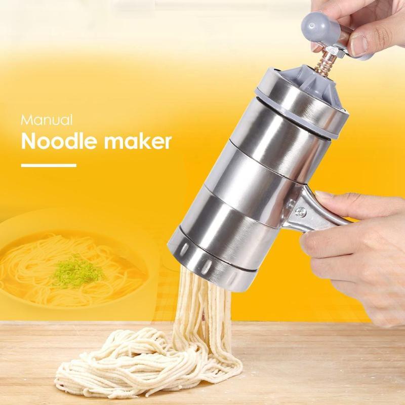 Heißer Manuelle Edelstahl Noodle Maker Presse Pasta Maschine Kurbel Cutter Kochgeschirr, Der Spaghetti Küche Kochen Werkzeuge