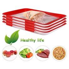 Креативный лоток для сохранения пищи, органайзер для сохранения свежести пищи, контейнер для хранения еды, холодильник, 4 шт