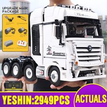 New 20005 Technic Car Toys Compatible With Fully RC Motor ACTROS 4163 Building Blocks Assembly 42043 Bricks Kids Christmas Gifts