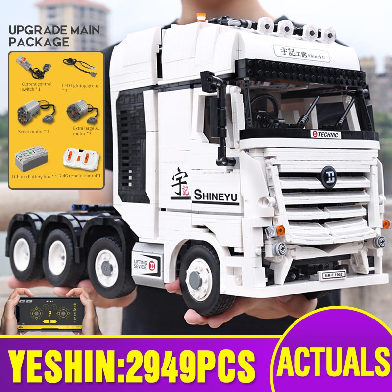 New 20005 <font><b>Technic</b></font> Car Toys Compatible With Fully RC Motor ACTROS 4163 Building Blocks Assembly <font><b>42043</b></font> Bricks Kids Christmas Gifts image