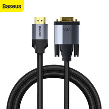 Baseus kabel HD do przejściówka VGA kabel Adapter dla komputerów TV 4k projektor biurowe wysokiej jakości hd konwerter splitter