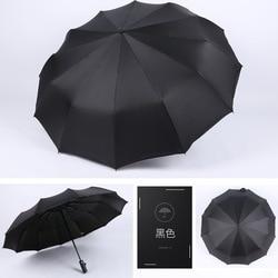 12 kości podwójny parasol wiatroodporny wzrost wzmocniony winylowy przezroczysty parasol automatyczne składane jednokolorowe parasole biznesowe na
