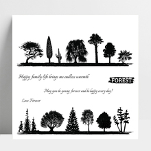 AZSG Forest / trees / Wishes Clear Stamps For DIY Scrapbooking/Card Making/Album Decorative Silicone Stamp Crafts azsg creek in the forest clear stamps for diy scrapbooking card making album decorative rubber stamp crafts