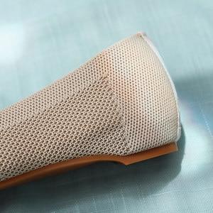 Image 5 - Veowalk mocassins en tissu de coton pour femmes, chaussures plates, à bout pointu, motif Floral, style rétro, collection chaussures de marche décontractées