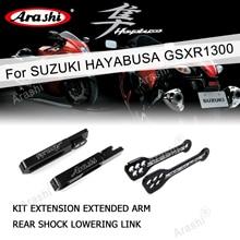 Arashi swingarm kit extension extended arm 리어 쇼크 링크 suzuki hayabusa gsxr1300 2008 2017 gsx1300r gsxr 1300
