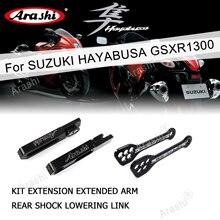 Kit de extensão de braços oscilantes rastreadores, ligação para suzuki hayabusa gsxr1300 2008 2017 pro gsxr 1300