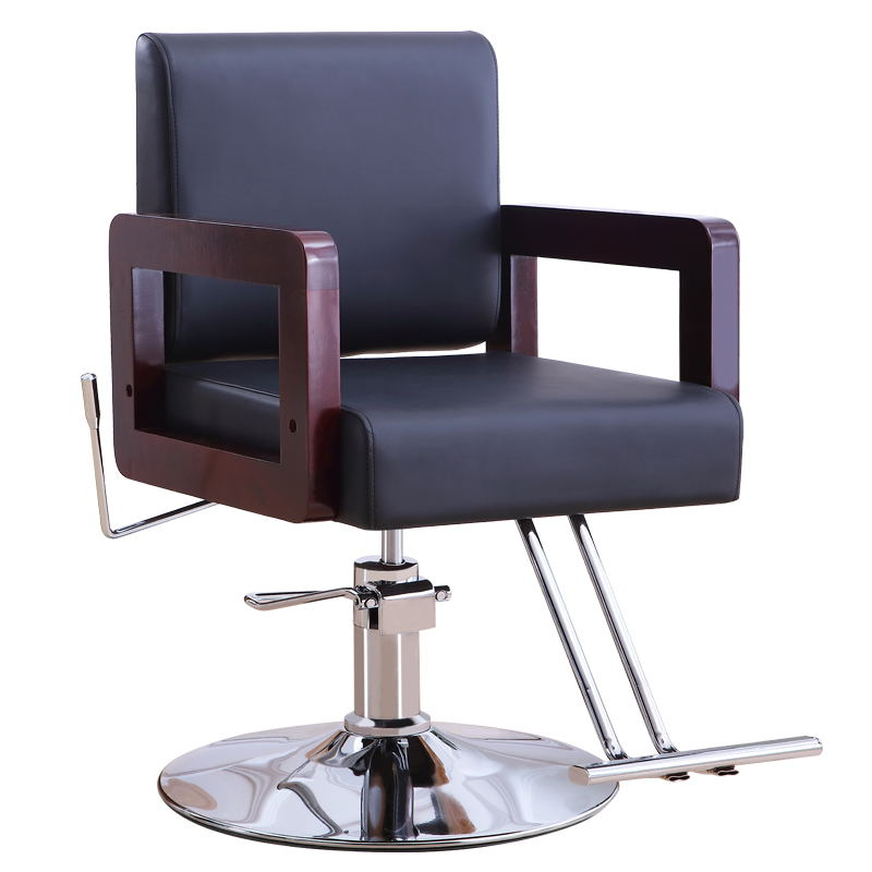 Simple Solid Wood Hairdressing Chair Can Be Put Down Hairdressing Chair Hair Salon Special Lifting Rotary Hairdressing Chair