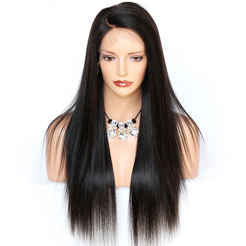 Glueless Full Lace Human Hair Wigs Brazilian Remy Straight Hair Wig 150 Density Pre Plucked Full Lace Wig For Women High Quality
