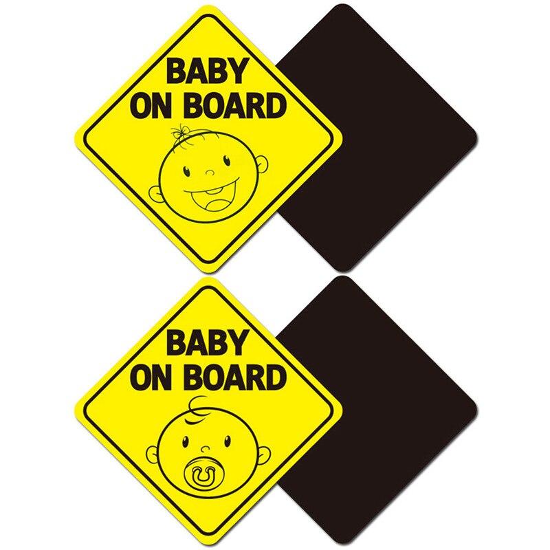 Ребенок на борте автомобиля стикер Предупреждение ющий знак магнит автомобилей светоотражающий Безопасности милый магнитный стикер