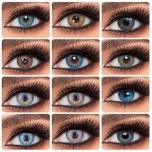 2 шт/пара 2021 Новый Цвет ed контактные линзы глазные ежегодно