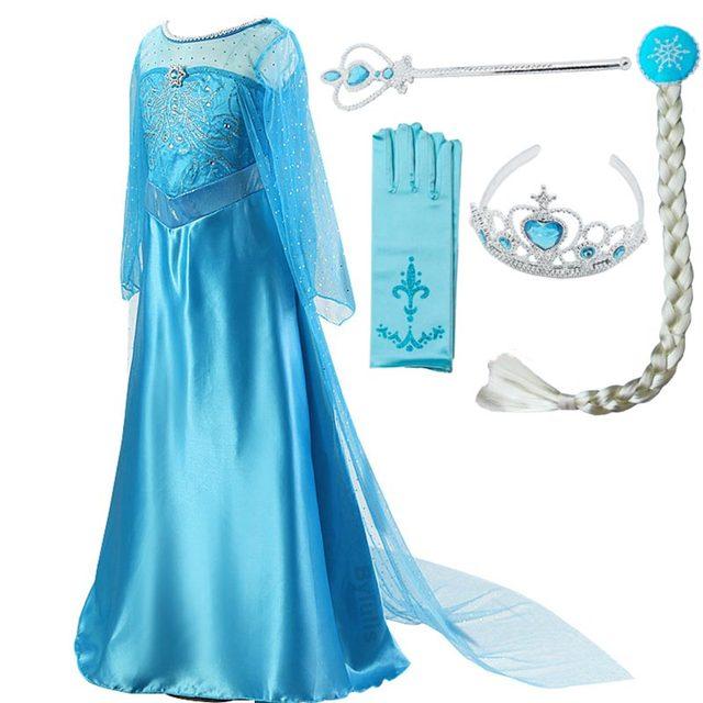 Женский костюм «Снежная Королева», маскарадное вечернее платье королевы Эльзы, сестры принцессы Анны, для девочек