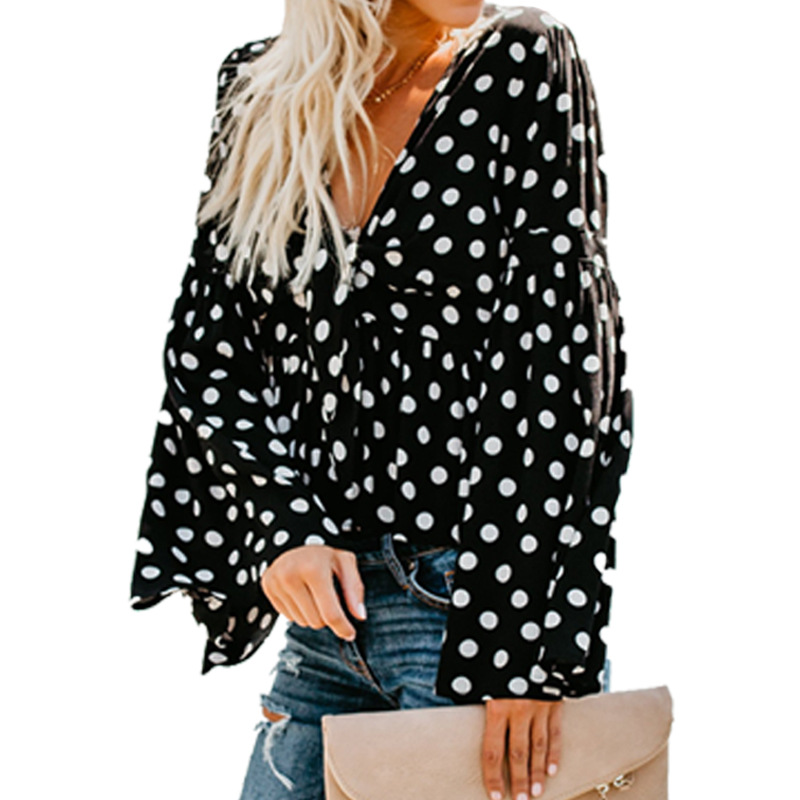 new women blouse fashion 2020 female womens top shirt ladies flare sleeve autumn fall  festivals classics clothing top xxl