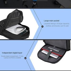 Image 5 - Oiwas 17 дюймовый рюкзак для ноутбука с USB зарядкой, мужские рюкзаки, большой объем, деловой рюкзак для женщин и мужчин, Подростковая дорожная сумка