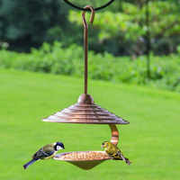A1 Bird supplies outdoor villa balcony bird food bird feeder feed trough metal automatic cutting AP927949