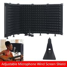 Studio Recording Microphone Isolation Shield 5-Panel Pop Filter Wind Screen Mic Shield Plate For Blue Yeti Condenser Microphone