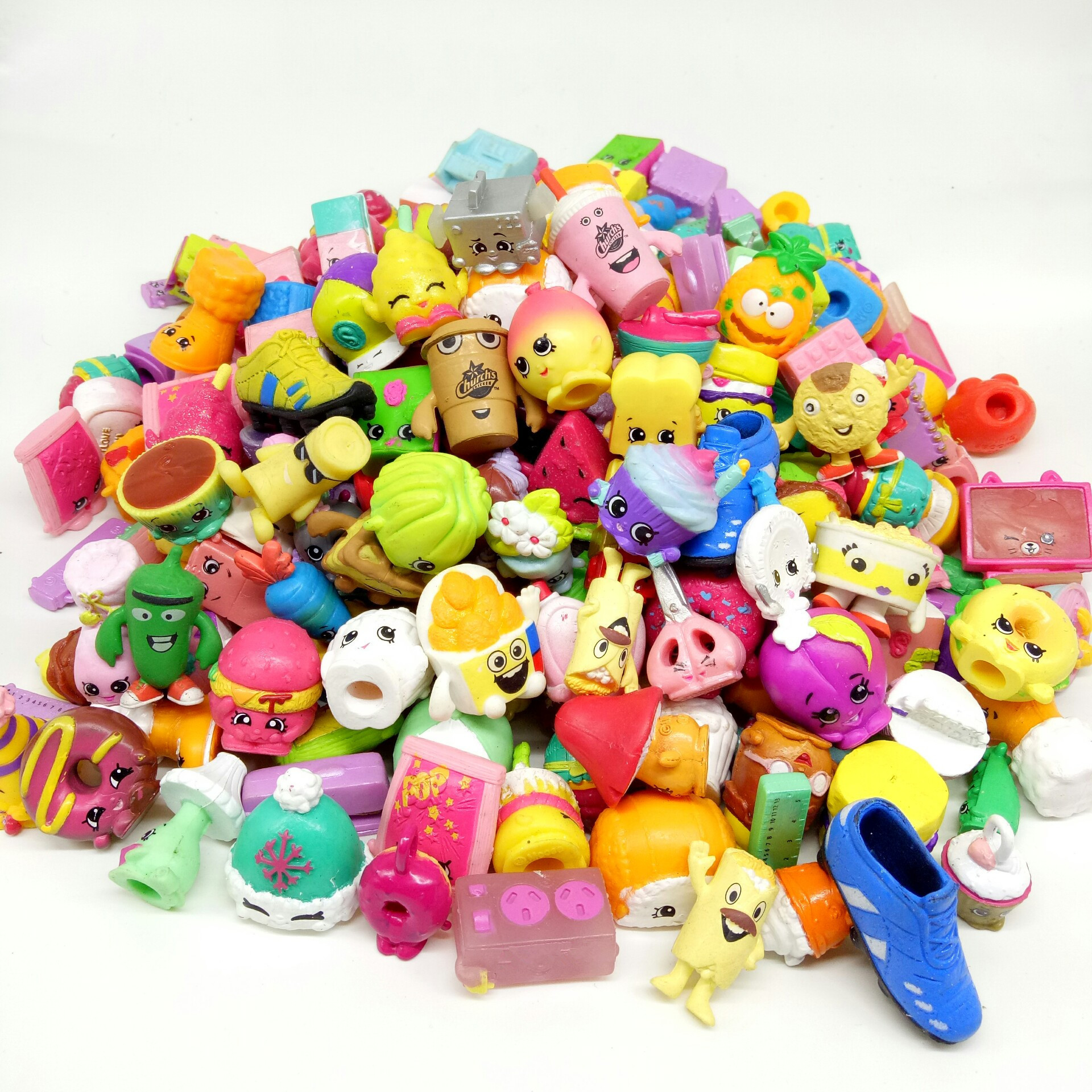 Economic 2to5cm Famous Cartoon Shopkin Hot Gift Toy Size Kids Play Soft Rubber Toy Random